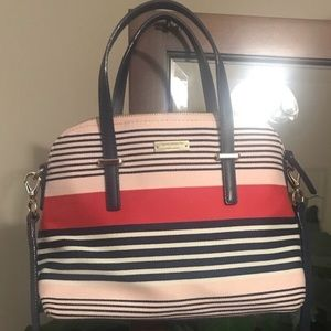 Kate Spade Canvas Striped Dome Satchel